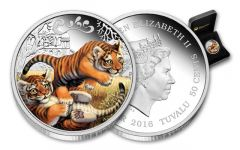 2016 Tuvalu 50 Cent 1/2-oz Silver Tiger Cubs Proof