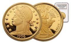 1906 Barber 1-oz Gold Pattern Double Eagle NGC Gem Proof