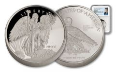 2016 1-oz Silver Winged Liberty High Relief NGC GEM Proof- Mercanti Signed