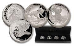 2015 Australia 1-oz Silver High Relief 4pc Set