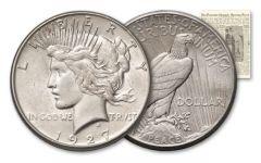 1927-PDS Peace Dollar Murderers Row Set XF