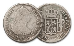 1772-1825 Spain 1 Reales Silver VG