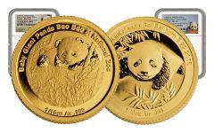 2015-2016 China Gold 1/10-oz Smithsonian Panda Sibling NGC PF70UC 2pc Set