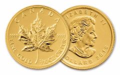 2016 Canada 5 Dollar 1/10-oz Gold Maple Leaf - Call-In