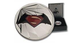 2016 Canada 10 Dollar 1/2-oz Silver BATMAN v SUPERMAN Logo Matte Proof