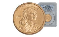 2010 Sacagawea Dollar Error PCGS MS66 Blue