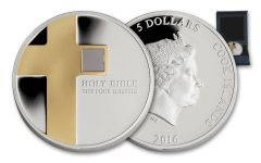 2016 Cook Islands 5 Dollar 1-oz Silver Four Gospels Holy Bible Proof