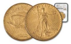 1909/8-P 20 Dollar Gold Saint Gaudens NGC AU58 Rive d'Or