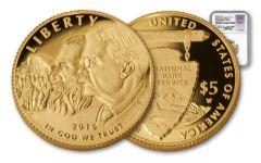 2016-W 5 Dollar 1/4-oz Gold National Park NGC PF70UCAM FDI Jones Signed