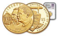 2016-W 5 Dollar Gold National Park Service Commemorative NGC PF70UCAM FDI Jones