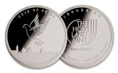 2016 1-oz Silver Dove of Peace Round