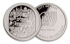 2016 1-oz Silver Jerusalem Round