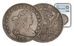 1799 1 Dollar Draped Bust NGC VG Smithsonian Coin Classics