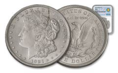 1921-P Morgan Silver Dollar NGC MS64 Smithsonian Institution Coin Classics
