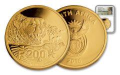 2016 South Africa 1-oz Gold Cheetah NGC- PF70UCAM