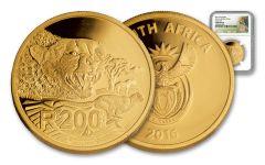 2016 South Africa 1-oz Gold Cheetah NGC- Gem Proof