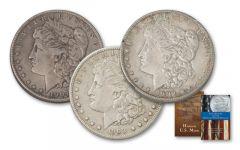 1902-1904-P Morgan Silver Dollar 3pc Set XF