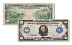1914 10 Dollar Federal Reserve Bank Note AU