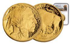 2016-W 50 Dollar Gold Buffalo NGC PF70 10th Anniversary