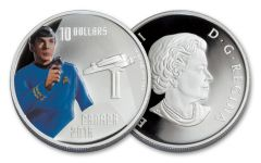 2016 Canada 10 Dollar 1/2-oz Silver Star Trek Spock Proof