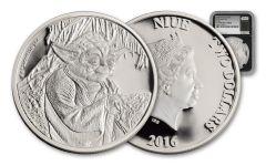 2016 Niue 2 Dollar 1-oz Silver Yoda NGC PF69UCAM- First Strike
