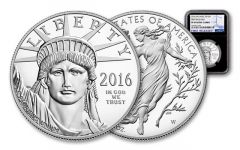 2016-W 100 Dollar 1-oz Platinum Eagle Black Core NGC PF69 First Release