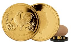 2017 Australia Gold Year of the Rooster Proof 3pc Set