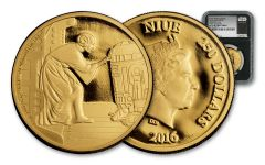 2016 Niue 250 Dollar 1-oz Gold Star Wars Leia Proof NGC PF69