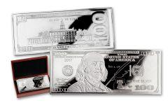 2017 100 Dollar 4-oz Silver Franklin Currency Proof