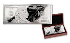2017 100 Dollar 1-oz Silver Franklin Currency Proof