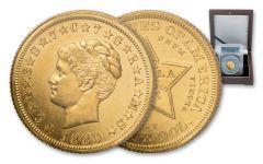 1880 4 Dollar Coiled Hair Stella Pattern Gilt Judd-1661a PCGS PR62
