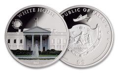 2016 Palau 5 Dollar Silver World of Wonders: White House Proof