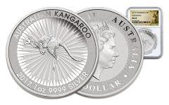 2017 Australia 1 Dollar 1-oz Silver Kangaroo NGC MS69