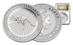 2017 Australia 1 Dollar 1-oz Silver Kangaroo NGC MS70