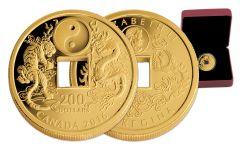 2016 Canada 200 Dollar 1-oz Gold Tiger and Dragon Proof
