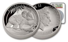 2016 Australia 8 Dollar 5-oz Silver Koala High-Relief NGC PF70UCAM First Day Of Issue