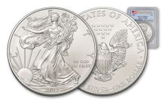 2017 1 Dollar 1-oz Silver Eagle PCGS MS69 First Strike
