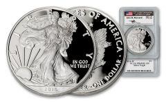 2016-W 1 Dollar 1-oz Silver Eagle PCGS PR69DCAM Mercanti Signed