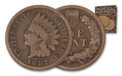 1887-1909 1 Cent Indian Head 21 Pc Set with Album
