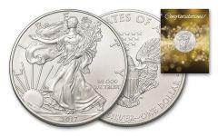 2017 1 Dollar 1-oz Silver Eagle BU Congratulations