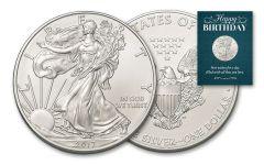 2017 1 Dollar 1-oz Silver Eagle BU Birthday Traditional