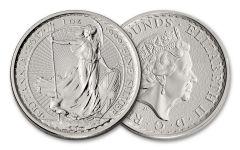 2017 Great Britain 2 Pound 1-oz Silver Britannia BU