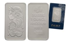 PAMP Suisse 1-oz Rhodium Fortuna Bar