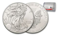 2017 1 Dollar 1-oz Silver Eagle NGC Gem First Day Of Issue 20-Coin Roll