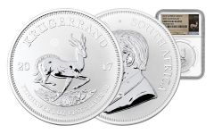 2017 South Africa Silver Krugerrand NGC Gem Uncirculated- White