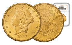 1877-1907 20 Dollar Gold Liberty with Motto Double Eagle NGC/PCGS MS63