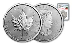 2017 Canada 5 Dollar 1-oz Silver Maple Leaf NGC MS69 First Day Of Issue