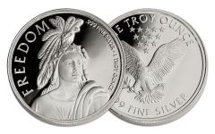 1-oz Silver Freedom Round Proof-Like