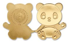 2016 Palau 1 Dollar Half Gram Gold Little Panda BU