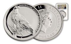 2017 Australia 1 Dollar 1-oz Silver Wedge-Tailed Eagle NGC Gem Uncirculated Mercanti Signed